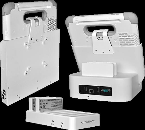 Docking Station, VESA mount, Charging Station for the Cybermed Rx Medical Tablet PC