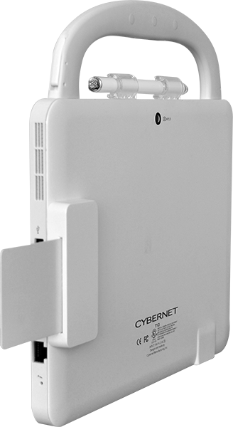 CyberMed T10C Medical Tablet with Smart Card Reader Shown